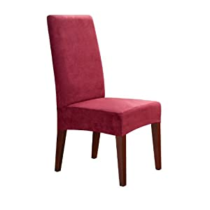 sure fit soft suede shorty dining room chair