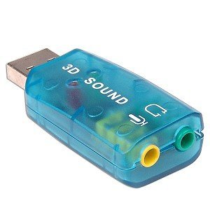 USB 2.0 Mic Speaker 5.1 Audio Sound Card Adapter