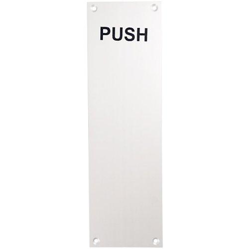 Door Push Plate  Brushed Aluminum Picture