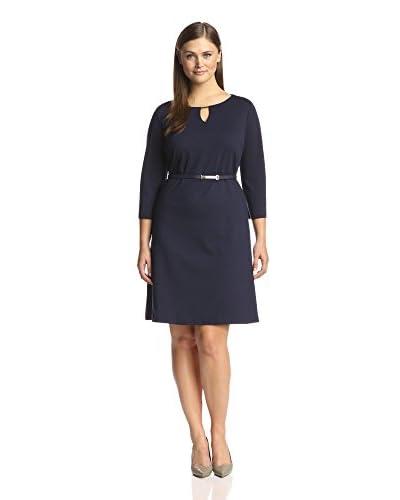 ... Ponte Knit Dress SHARAGANO Three Quarter Sleeve Cable Knit Dress