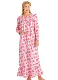 Flannel Nightgown - Women's Sizes, Color Pink, Size 3X