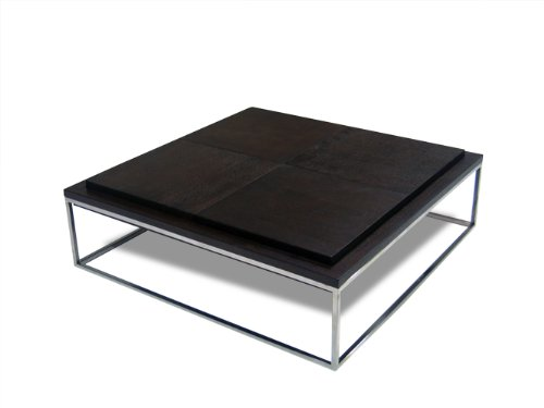 CT686 Square Coffee Table in Dark Walnut By Diamond