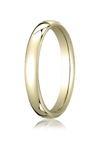 10K Yellow Gold, 3.5mm European Comfort-Fit Ring (sz 8)
