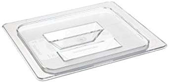 Carlisle 1031007 Clear One-Sixth Size Handled Lid (Case of 6)