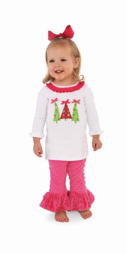 Mud Pie Baby-Girls Infant Triple Tree Tunic And Leggings Size 0-6M front-543896