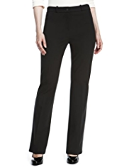 M&S Collection Flat Front Bootleg Ponte Trousers