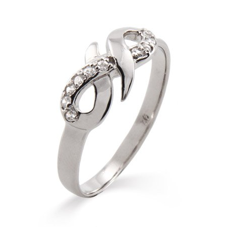 Elegant Sterling Silver CZ Infinity Ring Size 6 (Sizes 5 6 7 8 9