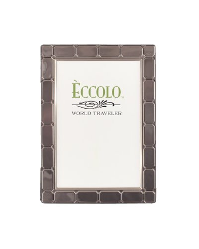 Eccolo World Traveler Gunmetal Plated Frame, Holds 4 by 6-Inch Photo, Gatsby