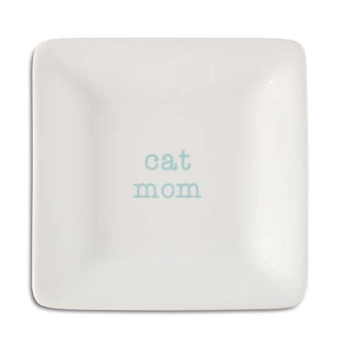 Pavilion Gift Company 14031 Cat Mom Ceramic Keepsake Dish, 4-1/2-Inch