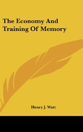 The Economy and Training of Memory