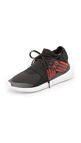Y-3 Y-3 Qasa Elle pizzo scarpe da tennis, nucleo nero / scarlatto / interno nero, 5 Uk
