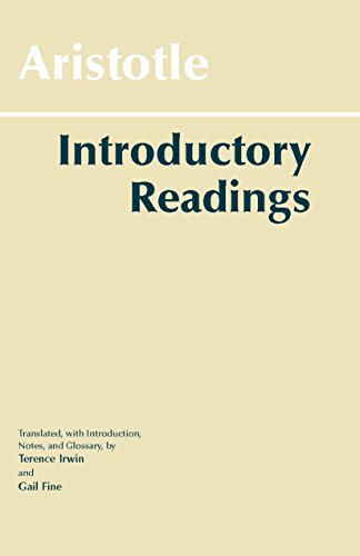 Aristotle: Introductory Readings (Hackett Classics)