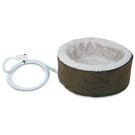 Petmate 15-Inch Round Heated Cat Bed