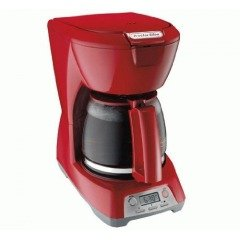 43673 12 Cup Programmable Coffeemaker, Red -