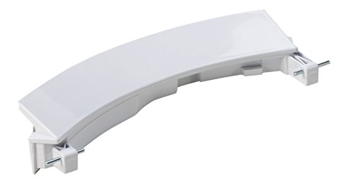DREHFLEX® - für Waschmaschine / Waschvollautomat Türgriff / Griff / Fenstergriff für diverse Geräte von Bosch / Siemens / Constructa - passend für Teile-Nr. 00751782 / 751782 weiß inkl. 2 Achsen