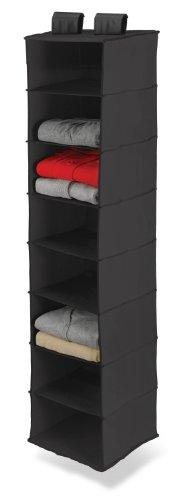 Honey-Can-Do SFT-01246 Hanging Closet Organizer, Black, 8-Shelf