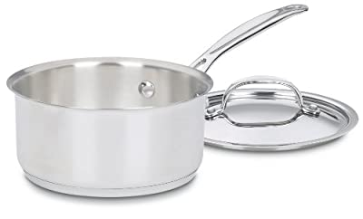 Cuisinart Chef's Classic Stainless Saucepan with Cover, 1 1/2 Quart
