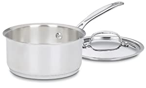 Cuisinart 719-16 Chef's Classic Stainless 1-1/2-Quart Saucepan with Cover