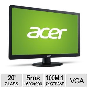 """Acer S200Hql 20"""" Class Lcd Monitor - Um.Is0Aa.C01"""
