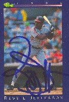 Reggie Jefferson Cleveland Indians 1992 Classic Autographed Hand Signed Trading Card. by Hall+of+Fame+Memorabilia