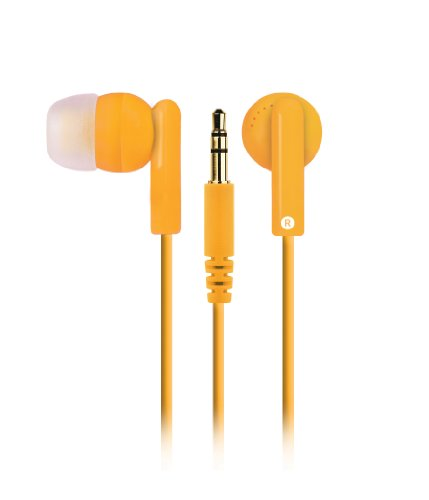 Merkury Innovations M-Hp2035 Hi Light Earbuds - Neon Orange