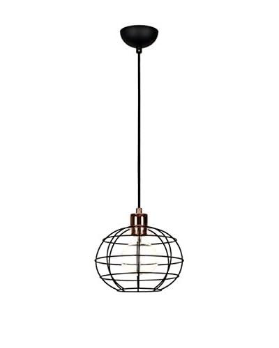 Light&Design Lámpara De Suspensión Negro/Cobre