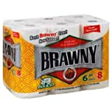 Brawny Big Roll Paper Towels, Pick-A-Size, White, 6 ct