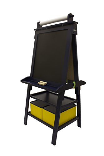 Little Partners Deluxe Art Easel - Two Sided A-Frame Paint Easel, Chalk Board & Magnetic Dry Erase - w/ Storage, Supply Holder & Paper Feed - Art Station & Educational Tool for Toddlers (Blue Ice) (Tabletop Playhouses For Kids compare prices)
