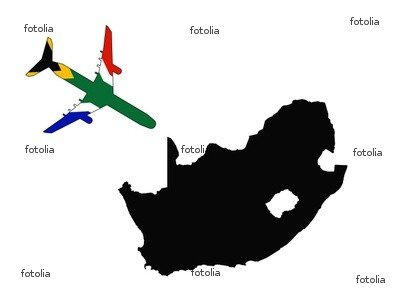 Wallmonkeys Peel and Stick Wall Graphic - Plane to South Africa - 60