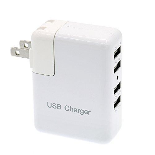 4.1A多ポートUSB充電器、旅行に必須の充電プラグ