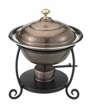 Black Friday Deals 10 Dia x 12 Round Antique Copper Chafing Dish 1 Qt