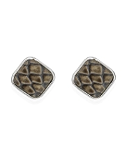 M&S Collection Faux Snakeskin Design Stud Earrings