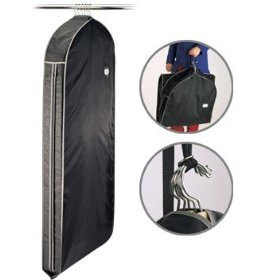 Black Travel Garment Bag Organize Storage Clean Neat