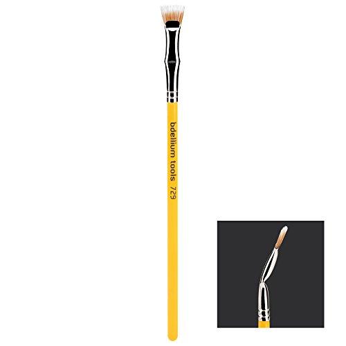 Bdellium Tools Professional Makeup Brush Studio Line - Duet Fiber Bent Mascara Fan 729