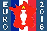 Kit 24 DRAPEAUX EURO 2016 DE FOOTBALL 90x60 cm - DRAPEAU CHAMPIONNAT D'EUROPE DE FOOTBALL 60 x 90 cm - AZ FLAG...