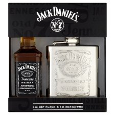 Jack Daniel discount duty free Jack Daniels Miniature & Hip Flask Gift Set