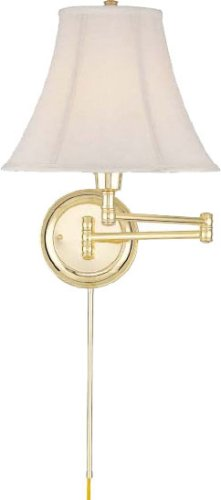Charleston Polished Brass Swing Arm Wall Lamp - C7501PB