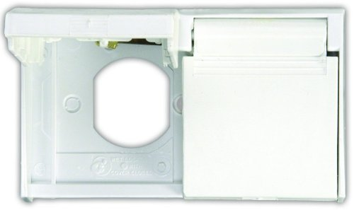 Jr Products 47505 Polar White Duplex Weatherproof Outlet Cover