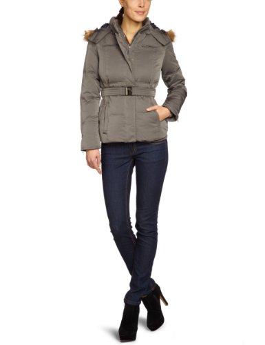 Pepe Jeans Selter - Giacca slim fit con cappuccio, manica lunga, donna, Grigio (Grau (Chrome)), XL