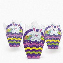 Paper Easter Basket-Shaped Gift Bags ( 1 dozen)