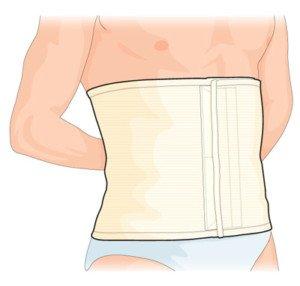 Dr.GIBAUD cintura post-operatoria steccata (Taglia 2)