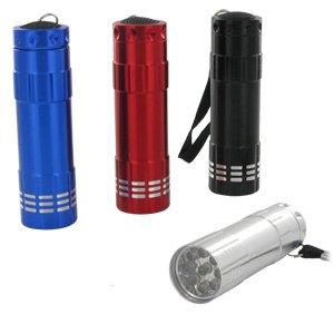 Steelbolts Ultra Bright Heavy Duty 9 LED Flashlight (4 Pack)