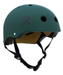 Buy Low Price S-One Lifer Helmet – Dark Green Matte – Small (H12-DGM-SM)