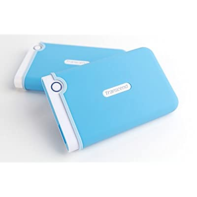 Transcend StoreJet 2.5 inch 2 TB Auto-Backup Drive (Light Blue)