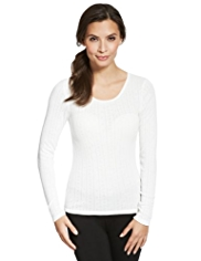 2 Pack Long Sleeve Pointelle Thermal Tops
