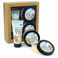 Boots Mediterranean Almond Gift Collection with Body Scrub, Body Wash and Body Butter