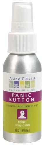 Aura Cacia Essential Solutions Mist, Panic Button, 2 Fluid Ounce