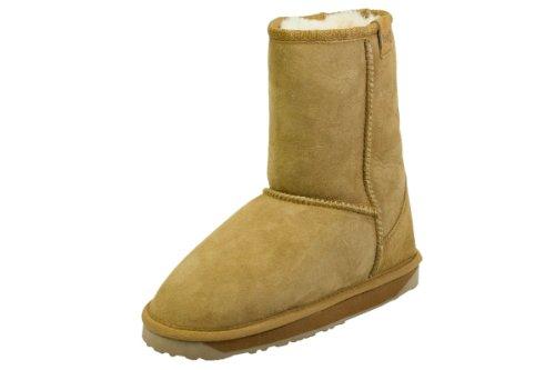 Emu Australia Stinger Lo W10002 Womens Chestnut Brown Sheepskin High Boots-UK 3