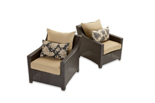 Rst Brands Cannes Patio Chaise Lounge Chair With Slate Grey Cushions, 2-Pack front-324583
