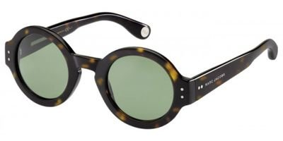 Marc Jacobs Mj473/S Sunglasses-0086 Dark Havana (Dj Green Lens)-47Mm